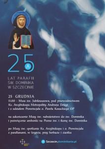 25 lecie parafi plakat
